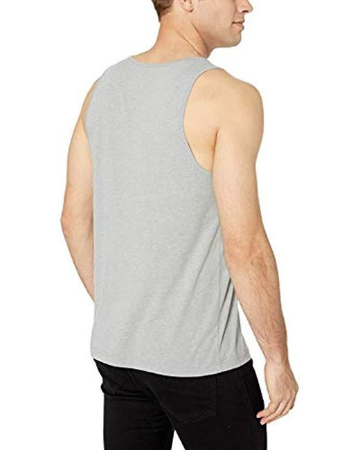 5eb07cacc4843f ... Amazon Essentials - Gray Regular-fit Solid Tank Top for Men - Lyst ...