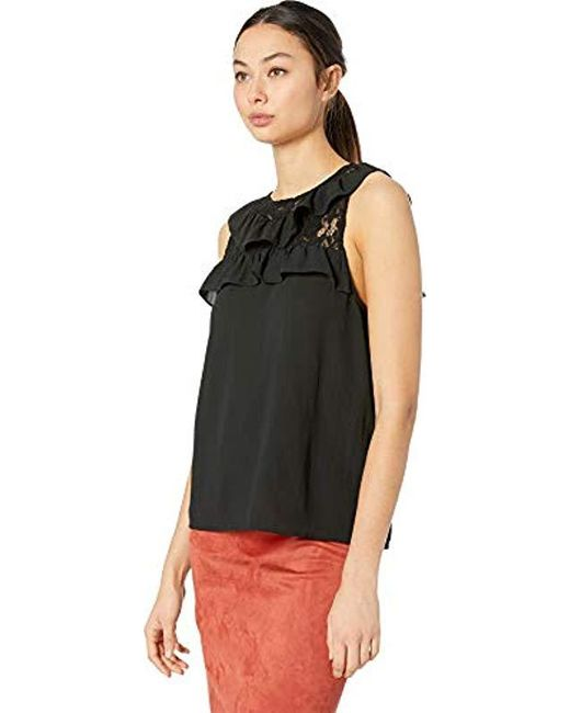 f993dd45b40f1b ... BB Dakota - Black Pretty Cdc Lace Top - Lyst ...