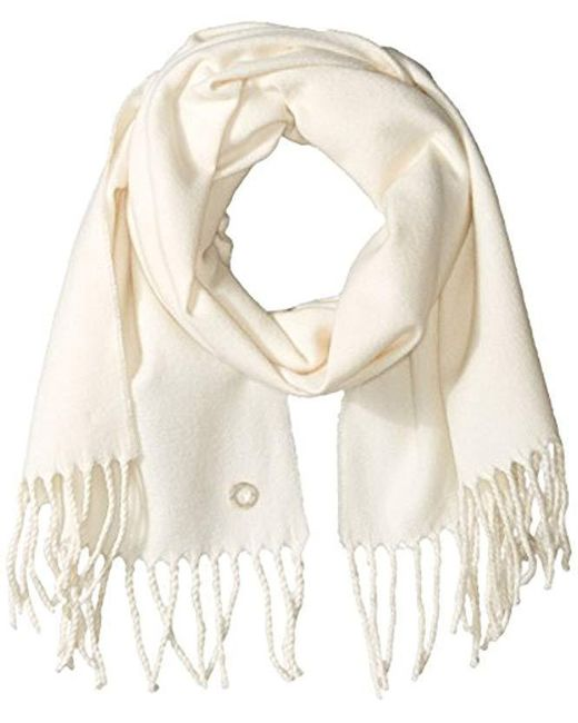 Calvin Klein - Natural Solid Woven Scarf - Lyst