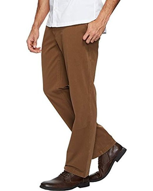 quality design top-rated real unbeatable price Men's Brown Straight Fit Downtime Khaki Smart 360 Flex Pants D2
