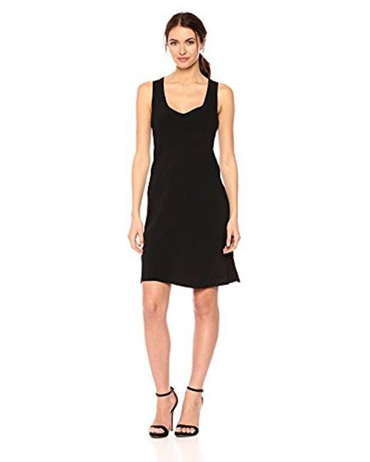 Calvin Klein Black Scoop Neck Mini Dress