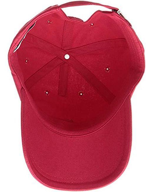 719faebc Lyst - Lacoste Small Croc Strapback Cap in Red for Men - Save 36%
