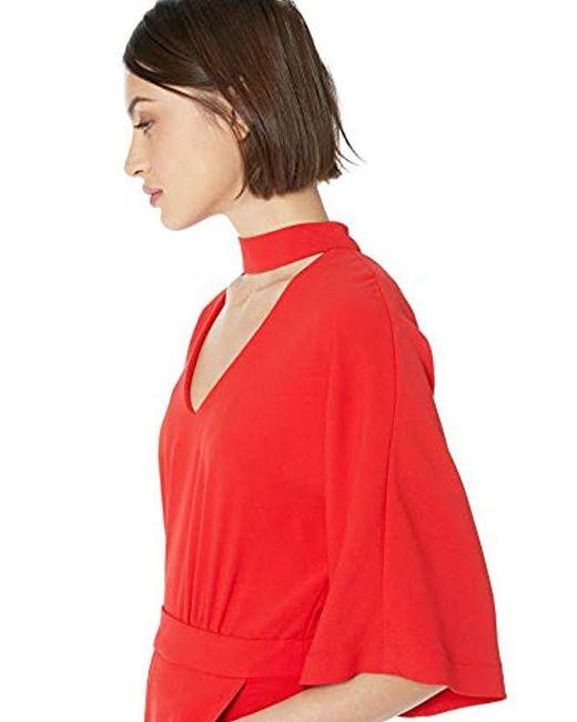 b373e92148e5 ... Trina Turk - Red Ambient Choker Neck Jumpsuit - Lyst ...