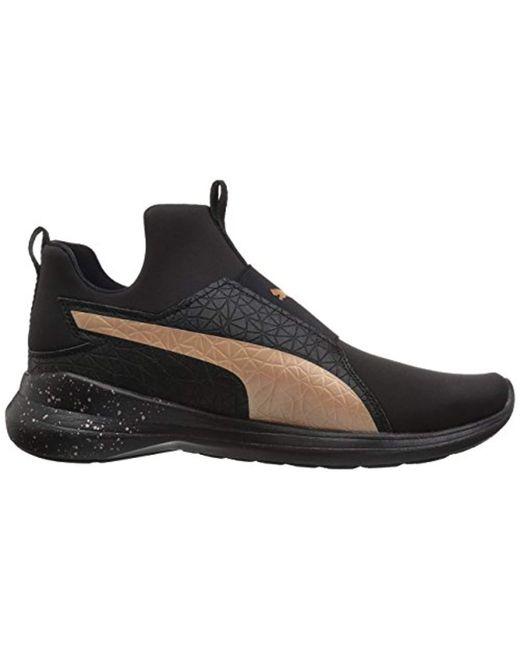 5f0a919daebc81 ... PUMA - Black Rebel Mid Wns Mettallic Sneaker - Lyst ...