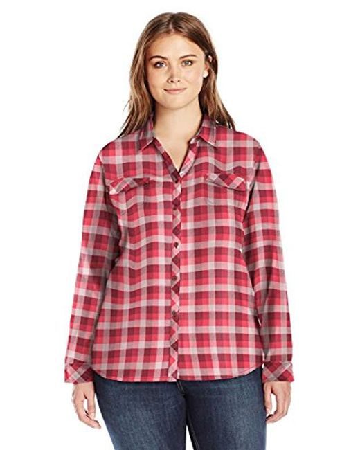 Columbia - Red Plus-size Simply Put Ii Plus Size Flannel Shirt - Lyst