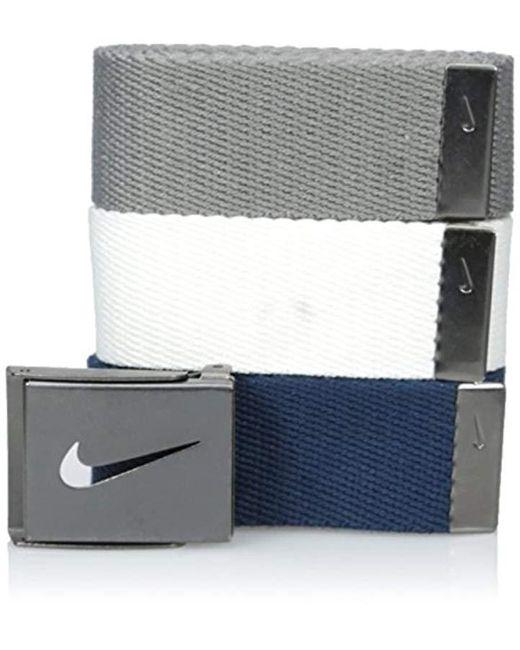 Nike - Multicolor 3 Pack Web Belt for Men - Lyst