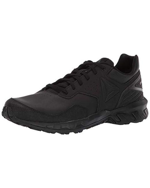 66f8e442575c Reebok - Black Ridgerider 4.0 Leather Walking Shoe for Men - Lyst ...