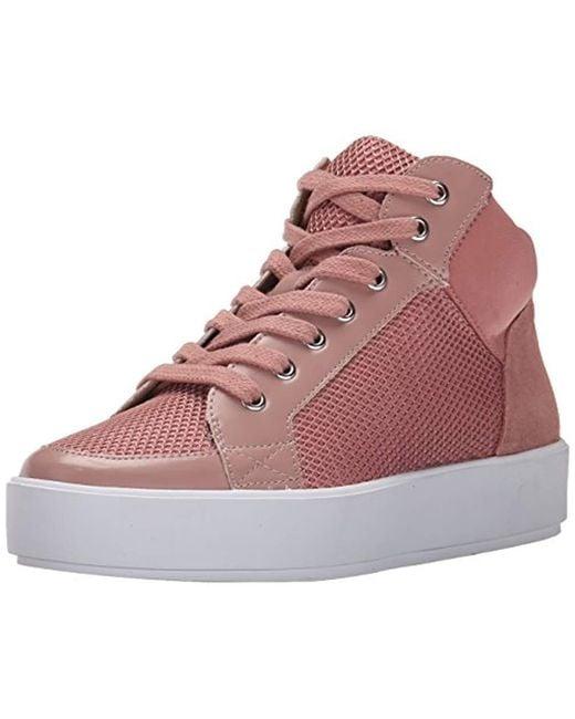 Nine West - Pink Verona Fabric Fashion Sneaker - Lyst