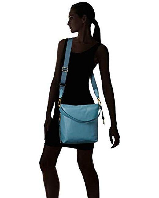 ... Fossil - Blue Maya Small Hobo Handbag - Lyst 031a84772971e