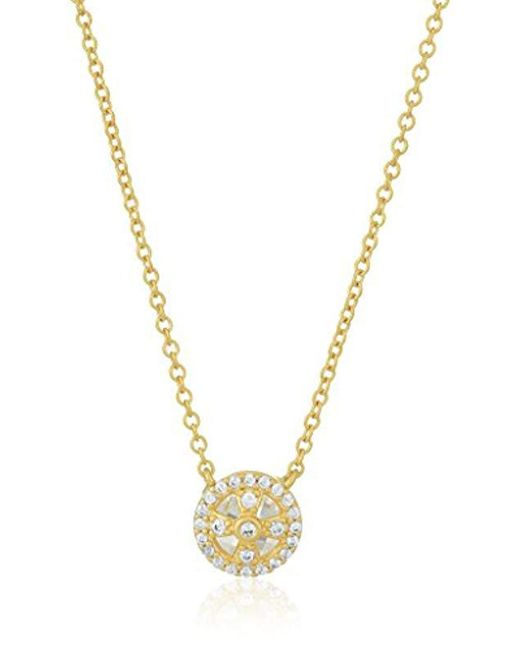 Freida Rothman - Metallic S Signature Tiny Clover Cage Pendant Necklace, Gold, Size 0 - Lyst