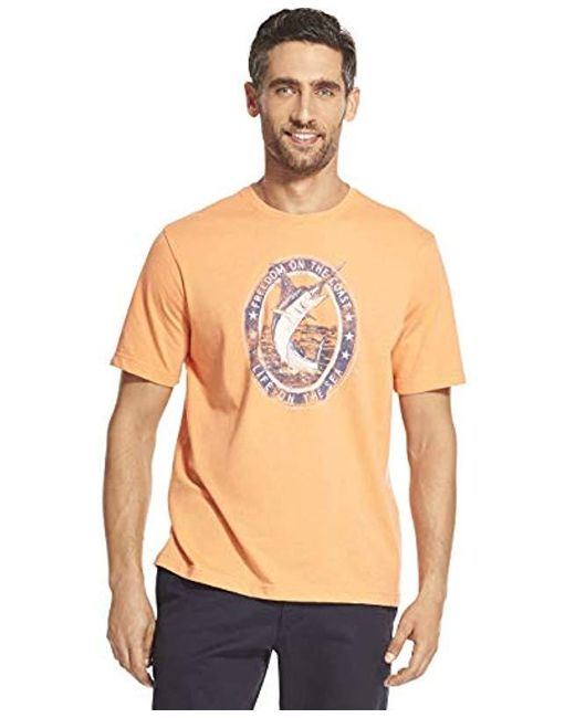 Izod Multicolor Short Sleeve Graphic T-shirt for men