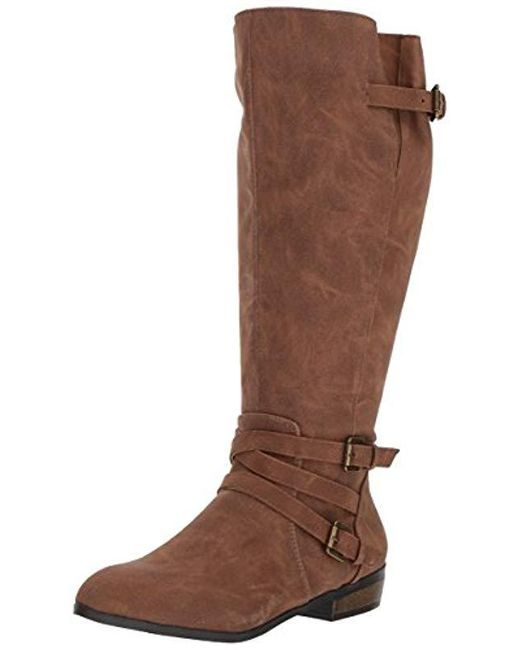 2a03bc35521e Madden Girl - Brown Opus Wide Calf Fashion Boot - Lyst ...