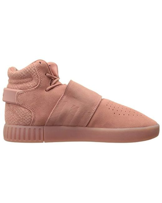 buy online eb0b0 c136f ... Adidas Originals - Pink Tubular Invader Strap W Fashion Sneaker - Lyst  ...