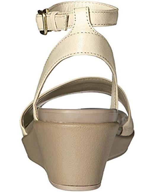 d37ed04e780d ... Crocs™ - Multicolor Leigh-ann Ankle Strap Leather Wedge Sandal - Lyst  ...
