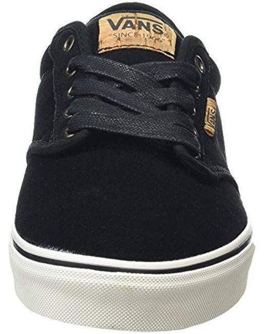 8121f1bb4b ... Vans - Black Atwood Deluxe Low-top Sneakers for Men - Lyst ...