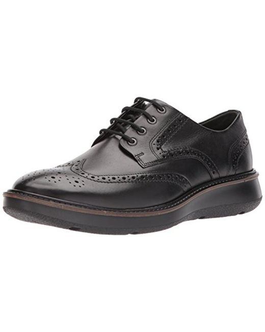 Ecco - Black Lhasa Brogue Tie for Men - Lyst