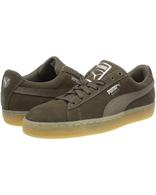 f8fdfc275b10 PUMA  s Suede Classic Bubble Wn s Trainers in Green - Save 67% - Lyst
