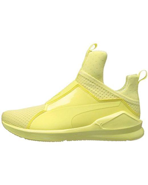 6ffe485b2d81 Lyst - PUMA Fierce Bright Mesh Cross-trainer Shoe in Yellow - Save 50%