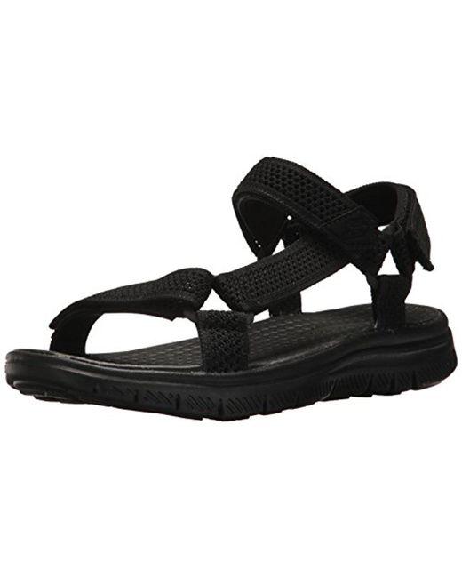 7a2ed39e7a9b Skechers - Black Sport Flex Advantage S Fisherman Sandal