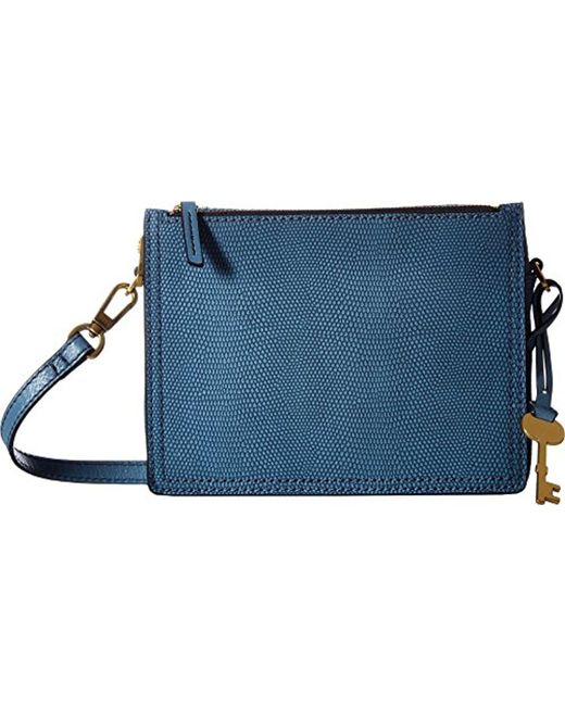 Fossil - Blue Campbell Crossbody Bag - Lyst