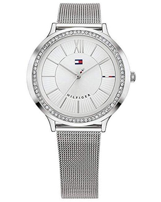 a39bc8a69196 Tommy Hilfiger - Metallic Reloj Análogo clásico para Mujer de Cuarzo con  Correa en Acero Inoxidable ...