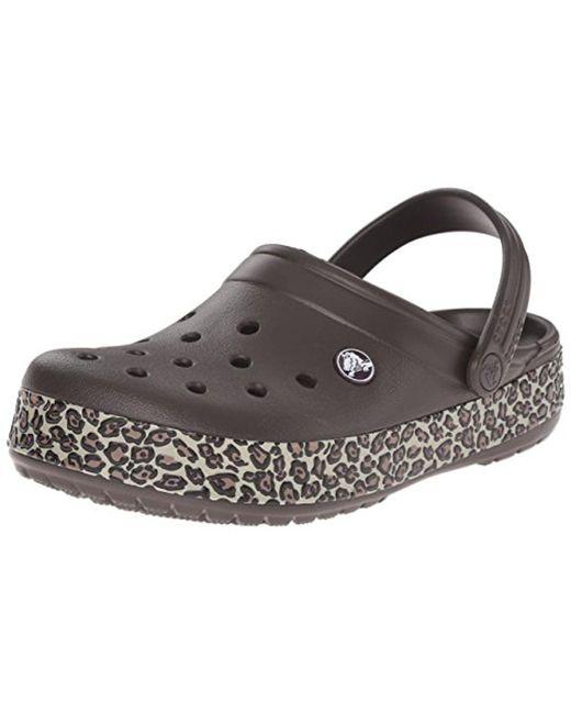 Crocs™ - Multicolor Unisex Crocband Animal Print Clog Mule - Lyst