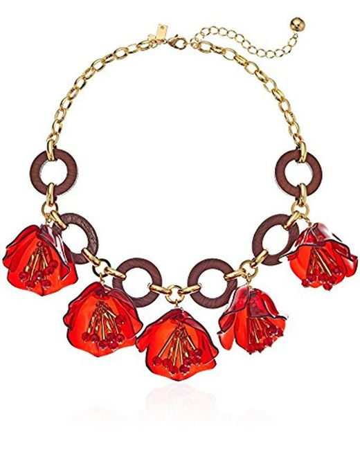 Kate Spade - S Link Statement Necklace, Red Multi - Lyst