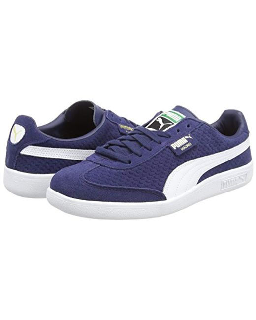 2fe6dda837dff7 ... Lyst PUMA - Blue Unisex Adults  Madrid Perforated Suede Trainers for Men  ...