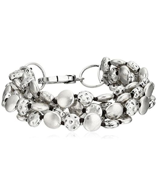 Lucky Brand - Metallic S Coin Bracelet - Lyst