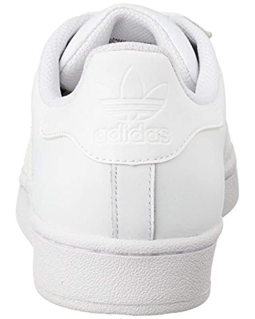 super popular e7589 1c052 ... Adidas - White Unisex Adults  Superstar Gymnastics Shoes for Men ...