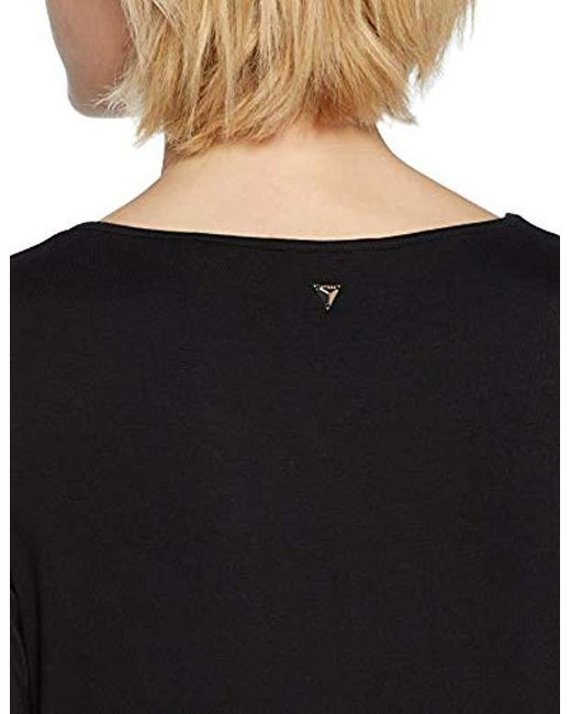 216094120f2c9 ... Guess - Black Eyelets Kniited Tank Top - Lyst ...