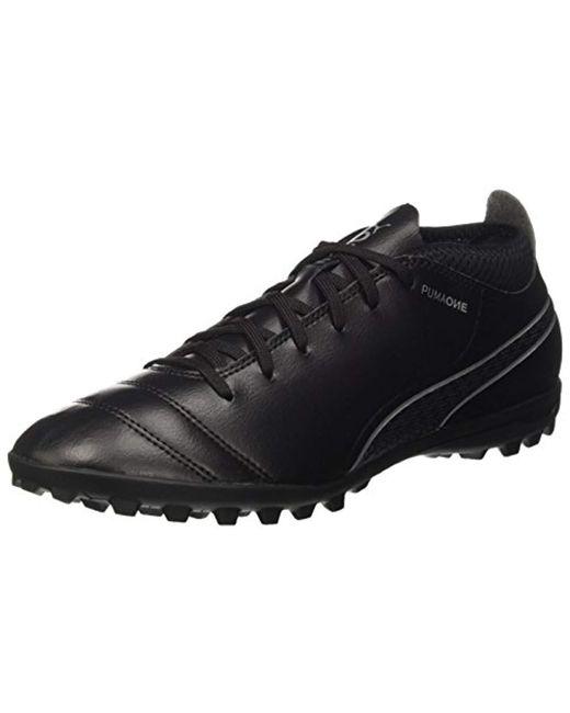 b022194a1ea39b PUMA - Black One 17.4 Tt Football Boots for Men - Lyst ...