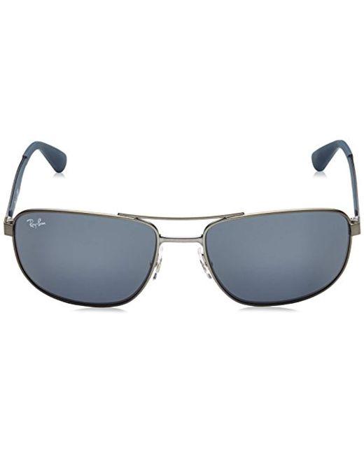 c1ba347774 ... Ray-Ban - Multicolor Metal Sunglasses In Matte Black Polarised Rb3528  006 82 61 ...