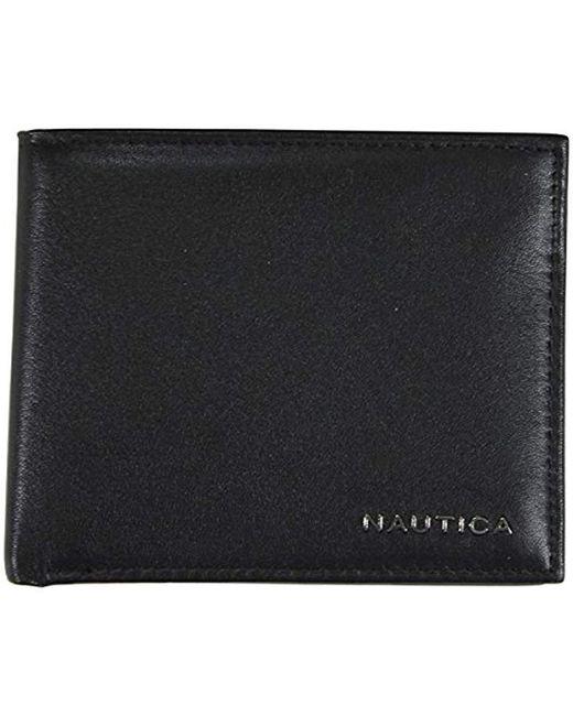 Nautica - Black Passcase Wallet for Men - Lyst