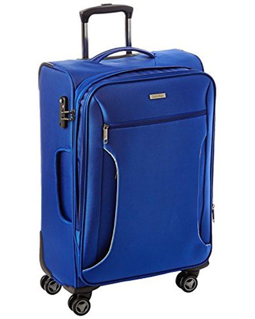 CALVIN KLEIN 205W39NYC - Blue Warwick 25 Inch Upright Suitcase for Men - Lyst