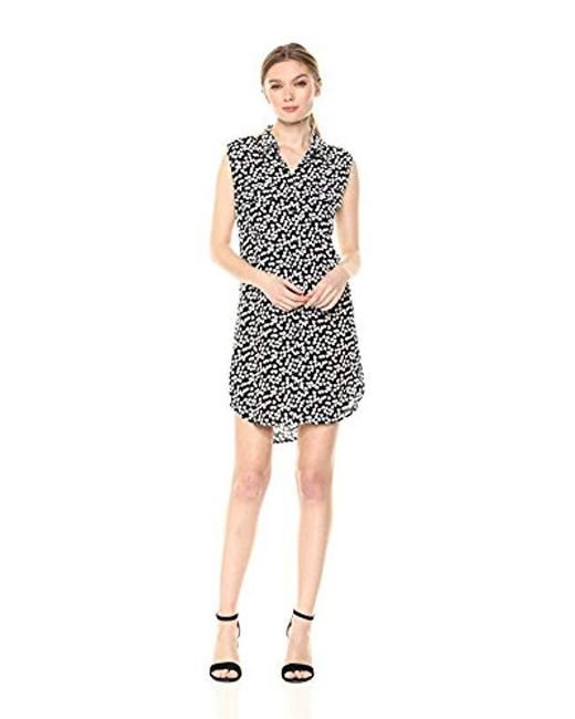 Equipment - Black Endless Hearts Printed Sleeveless Slim Signature Dress - Lyst