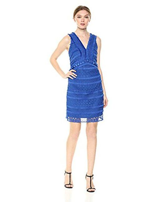 Sam Edelman Blue Lace Dress With Tassel