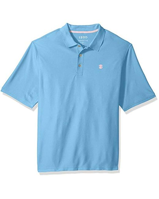 Izod - Blue Big And Tall Advantage Performance Solid Polo (slim) for Men - Lyst