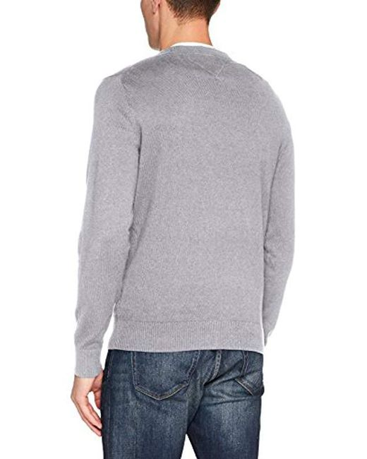 ... Tommy Hilfiger - Gray Pima Ctn Cashmere C-nk Cf Jumper for Men - Lyst 397c2165679