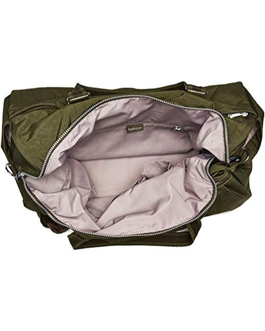9a7f8ad62ce5 Lyst - Kipling Itska Solid Duffle Bag in Green - Save 1%