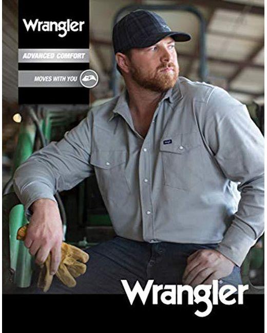 85d34eb5 ... Wrangler - Blue Big-tall Advanced Comfort Big & Tall Long Sleeve  Workshirt for Men ...