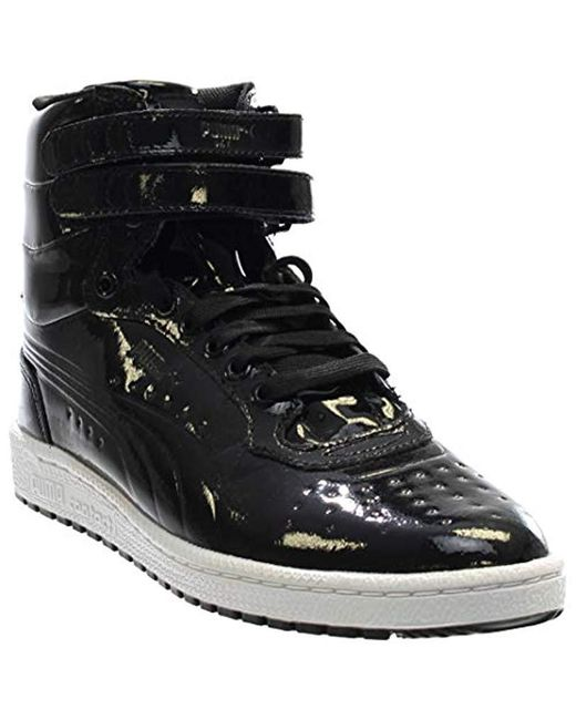 PUMA - Black Sky Ii Hi Patent Emboss Fashion Sneaker for Men - Lyst