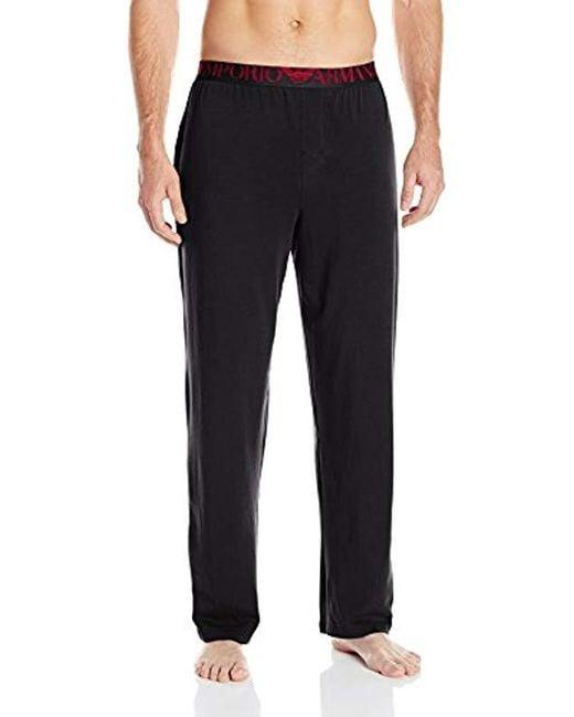 334ceaa87e8c3 Lyst - Bas De Pyjama Homme Emporio Armani pour homme en coloris Noir
