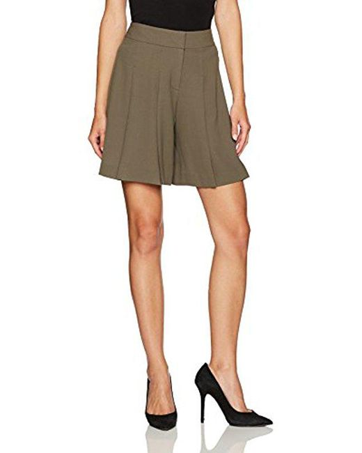 Nine West - Green Crepe Shorts - Lyst