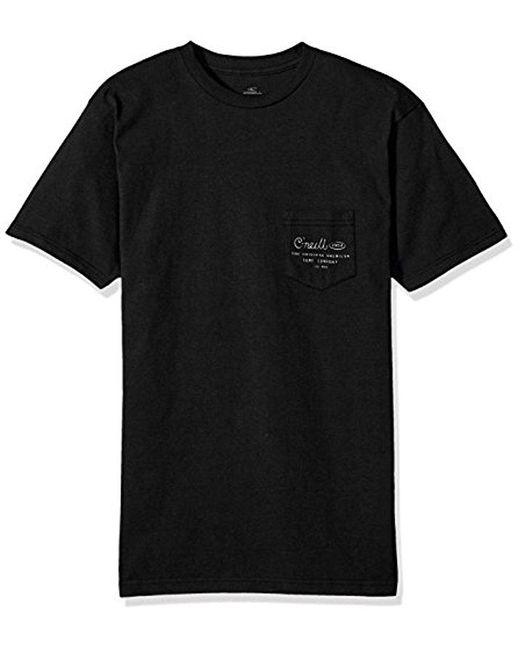 O'neill Sportswear - Black Randolph Tee for Men - Lyst