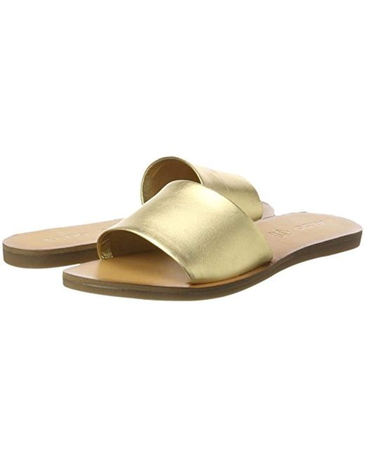 b7699fa14e3f ... ALDO - Metallic Brittny Wedge Heels Sandals - Lyst ...