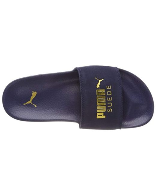 ... PUMA - Blue Adults  Leadcat Suede Beach   Pool Shoes for Men - Lyst 0cf856bd3
