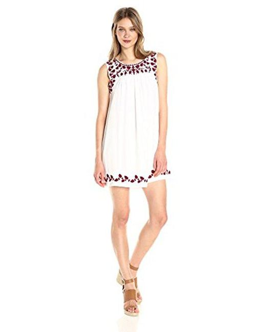 Lucky Brand - White Hannah Shift Dress, - Lyst