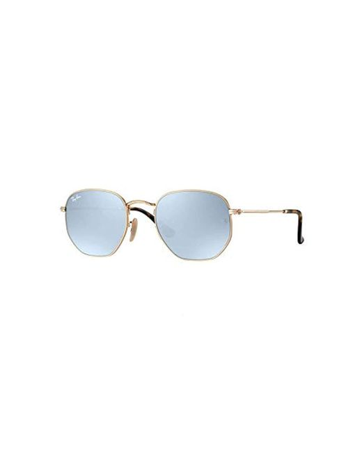 f387b186730b Ray-Ban - Black Hexagonal Flat Lens Sunglasses In Gold Green Rb3548n 001 51  for