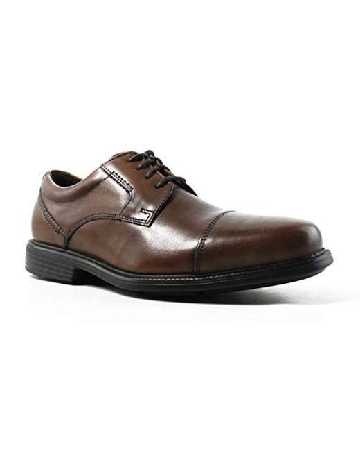 Rockport - Brown Charles Road Captoe Oxford for Men - Lyst